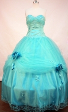 Beautiful Ball gown Sweetheart-neck Floor-length Sky Blue Quinceanera Dresses Style FA-C-111