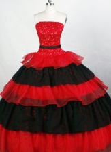 Brand New Ball Gown Strapless Floor-length Organza Quinceanera Dresses Style FA-C-079