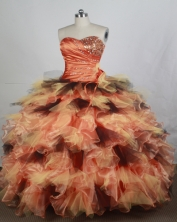 Brand New Ball gown Sweetheart-neck Floor-length Quinceanera Dresses Style FA-W-r57