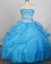 Cheap Ball gown Strapless Floor-length Quinceanera Dresses Style FA-W-r51