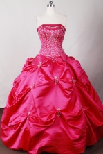 Cute Ball Gown Strapless Floor-length Quinceanera Dress LJ2625