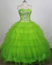 Discount Ball gown Sweetheart-neck Floor-length Quinceanera Dresses Style FA-W-r58