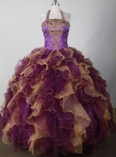 Elegant Ball Gown Halter Floor-length  Quinceanera Dress LJ2655