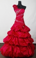 Elegant Ball Gown One Shoulder Neck Floor-length Quinceanera Dress LJ2635