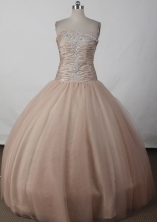 Elegant Ball Gown Strapless Floor-length Quinceanera Dress LJ2612
