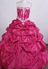 Elegant Ball gown Sweetheart Floor-length Quinceanera Dresses Appliques Style FA-Z-0025