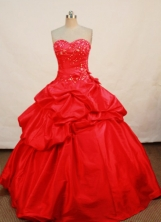 Elegant Ball gown Sweetheart Floor-length Quinceanera Dresses Appliques Style FA-Z-0073