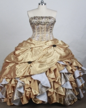 Exclusive Ball gown Strapless Chapel Train Quinceanera Dresses Style FA-W-r52