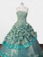 Exclusive Ball gown StraplessFloor-length Quinceanera Dresses Appliques Style FA-Z-0074