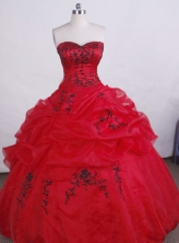 Exclusive Ball gown Sweetheart Floor-length Quinceanera Dresses Embroidery Style FA-Z-0027