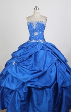 Exquisite Ball Gown Strapless Floor-length Quinceanera Dress ZQ12426064