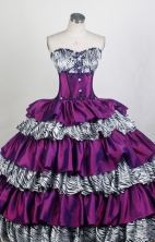 Exquisite Ball Gown Sweetheart Floor-length Quinceanera Dress ZQ12426092