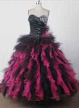 Exquisite Ball Gown Sweetheart Floor-length Quincenera Dresses TD260024