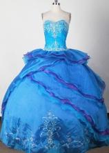 Exquisite Ball Gown Sweetheart Neck Floor-length Quinceanera Dress LJ2645