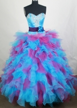 Exquisite Ball gown Sweetheart Floor-length Quinceanera Dresses Style FA-W-r85