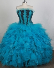 Gorgeous Ball gown Strapless Floor-length Quinceanera Dresses Style FA-W-r56