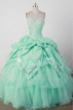 Lovely Ball Gown Sweetheart Floor-length Green Quincenera Dresses TD260020