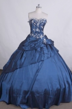Lovely Ball gown Sweetheart Floor-length Quinceanera Dresses Appliques with Beading Style FA-Z-0035