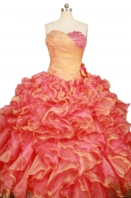 Luxurious Ball Gown Sweetheart-neck Floor-length Beading Quinceanera Dresses Style FA-W-365
