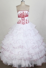 Luxurious Ball gown Strapless Chapel Train Quinceanera Dresses Style FA-W-r27