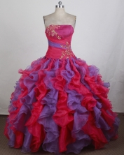 Luxurious Ball gown Strapless Floor-length Quinceanera Dresses Style FA-W-r03