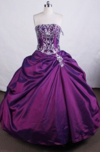 Luxurious Ball gown StraplessFloor-length Quinceanera Dresses Embroidery Style FA-Z-0044