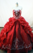 Luxurious Ball gown Sweetheart Floor-length Embroidery with Beading Quinceanera Dresses FA-Z-133