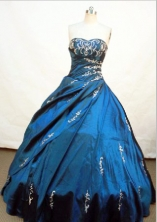 Luxurious Ball gown Sweetheart Floor-length Quinceanera Dresses Embroidery with Beading Style FA-Z-0068