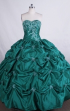 Luxurious Ball gown Sweetheart Floor-length appliques with beading Quinceanera Dresses Style FA-Z-003