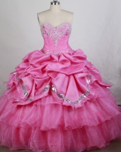 Luxurious Ball gown Sweetheart-neck Floor-length Quinceanera Dresses Style FA-W-r63
