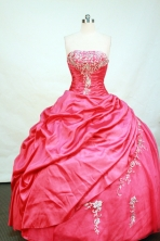 Modest Ball gown Strapless Floor-length Taffeta Quinceanera Dresses Style FA-C-102