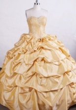 Modest Ball gown Sweetheart Floor-length Quinceanera Dresses Appliques with Beading Style FA-Z-0016