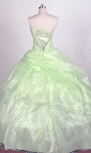 New Ball gown Strapless Floor-length Quinceanera Dresses Style FA-W-r76