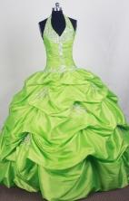 Perfect Ball Gown Halter Top Floor-length Quinceanera Dress ZQ12426070