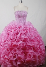 Perfect Ball Gown Strapless Floor-length Pink Quinceanera Dress Style LJ2604