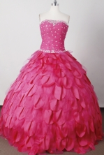 Perfect Ball Gown Strapless Floor-length Quinceanera Dress LJ2616