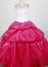 Perfect Ball Gown Strapless Floor-length Quinceanera Dress ZQ12426062