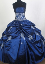 Perfect Ball Gown Strapless Floor-length Quinceanera Dress ZQ12426071