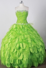 Perfect Ball Gown Strapless Floor-length Spring Green Quinceanera Dress LJ2674