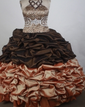 Perfect Ball gown Halter top neck Floor-length Quinceanera Dresses Style FA-W-r41