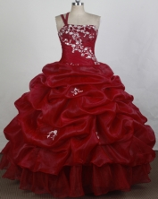 Perfect Ball gown One shoulder neck Floor-length Quinceanera Dresses Style FA-W-r39