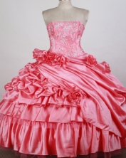 Perfect Ball gown Strapless  Floor-length Quinceanera Dresses Style FA-W-r43