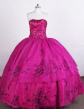 Perfect Ball gown Strapless Floor-length Quinceanera Dresses with Embroidery Style FA-Z-0014