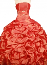 Popular Ball Gown Strapless Floor-length Taffeta Quinceanera Dresses Style FA-W-372