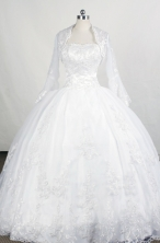 Popular Ball Gown Strapless Floor-length White Quinceanera Dresses Style FA-C-081
