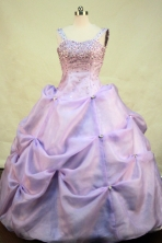 Popular Ball gown Strap Floor-length Beading Lilac Quinceanera Dresses Style FA-C-099