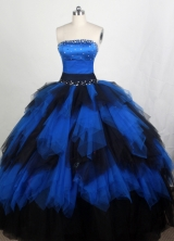 Popular Ball gown Strapless Floor-length Quinceanera Dresses Style FA-W-r79