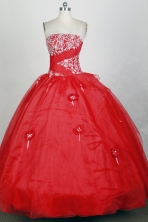 Popular Ball gown Strapless Floor-length Quinceanera Dresses Style FA-W-r96