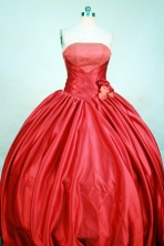 Popular Ball gown Strapless Floor-length Red Quinceanera Dresses Style FA-C-109