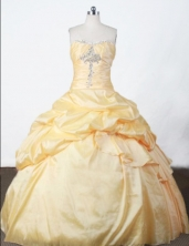Pretty Ball Gown Strapless Floor-length Appliques Quinceanera Dresses Style FA-W-389